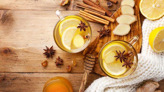 tisane avec citron et gingembre