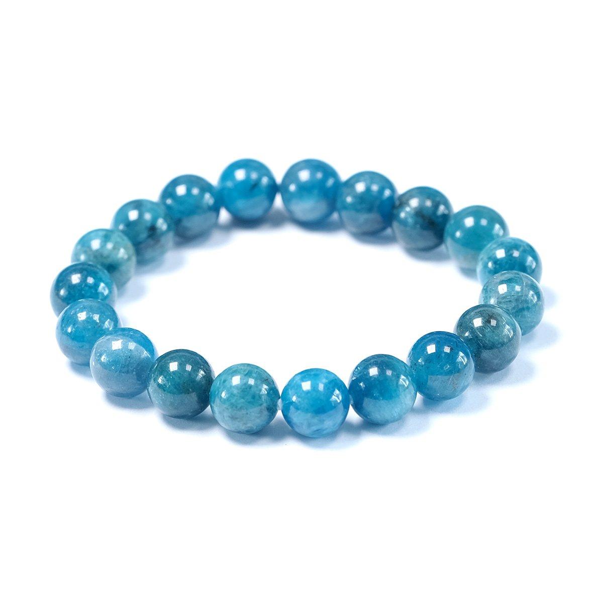 Bracelet stretch en perles d'apatite 10mm