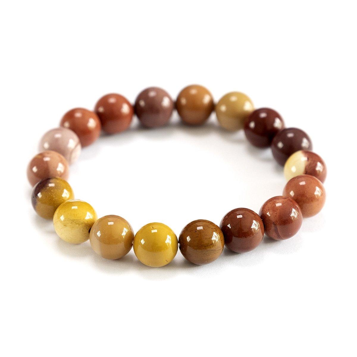 Bracelet extensible en perles de jaspe Mookaïte 10 mm